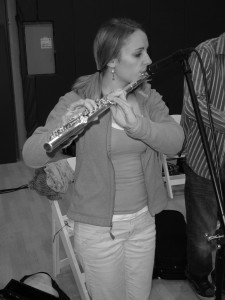 Jane playing the flute